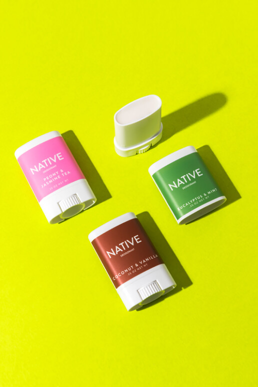 NATIVE Deodorant Product Photo with Yellow Background